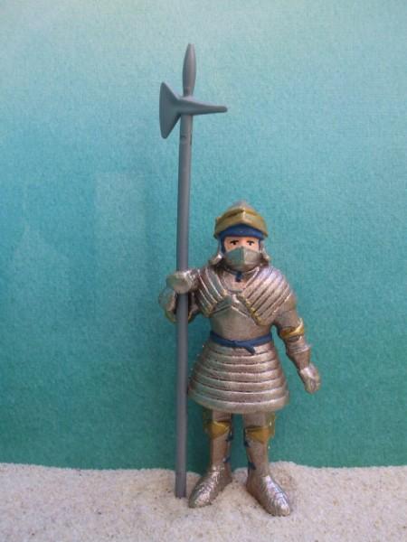 Ritter: Wächter mit Hellebarde - blau