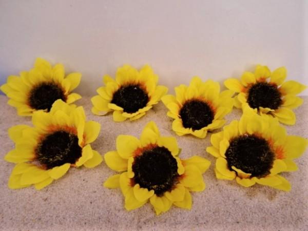 Sonnenblumen-Blüten - gelb - 7er Set