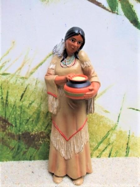 Indianerfrau ... mit Gefäß voll Mais