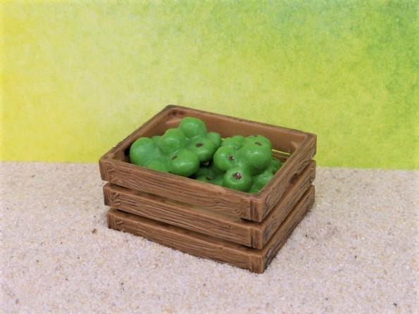 Steige ... mit grünen Äpfeln