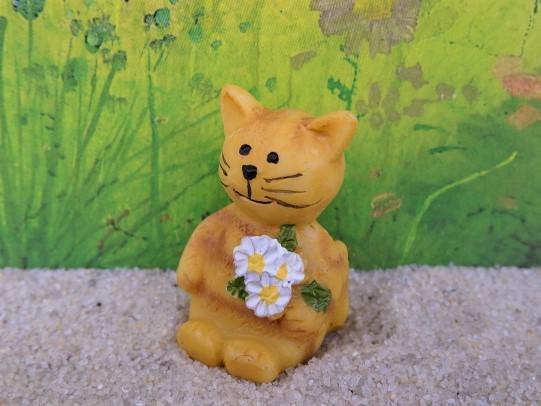 Katze mit Blümchen - Minifigur