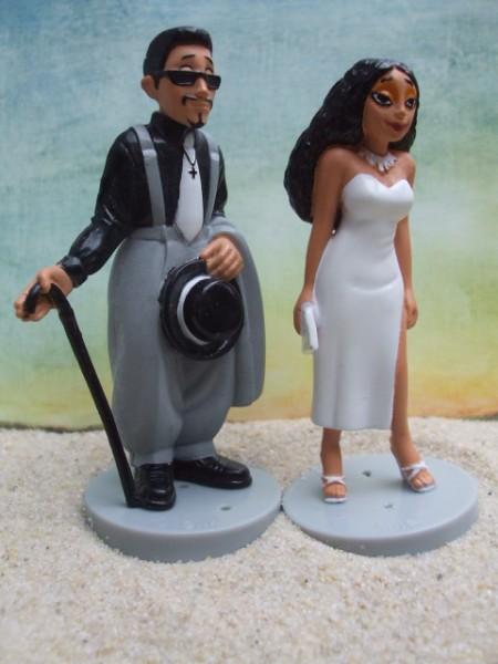 Paar in Abendgarderobe - weiß