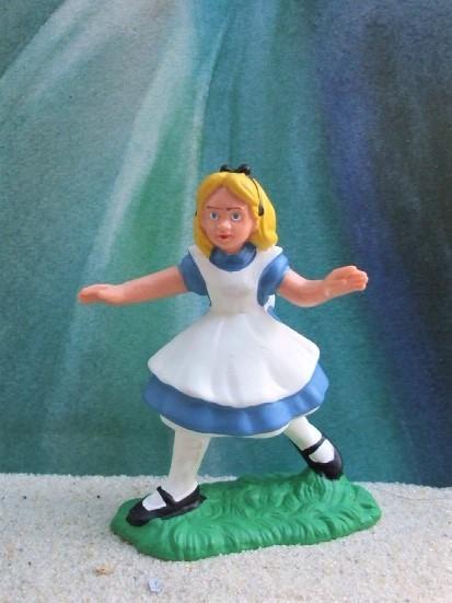 Rennendes Mädchen aus 'Alice im Wunderland' - blau
