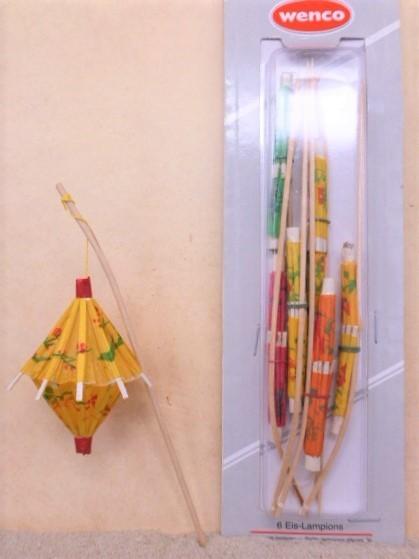 Papier-Lampions / Laterne 'GELB' - 6er Set