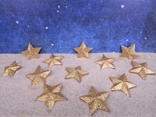 Sterne - golden - 12 Stück
