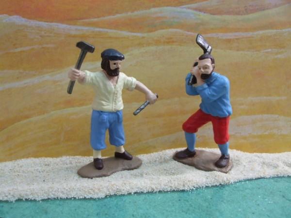 'Little Settlers' - Zwei arbeitende Siedler