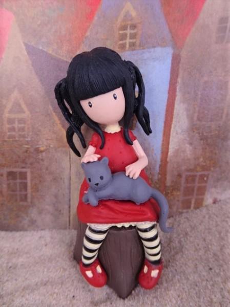 Mädchen mit Katze / Gorjuss - Figur