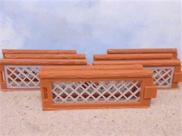 Zaun in Holz- und Drahtoptik - 8-teilig