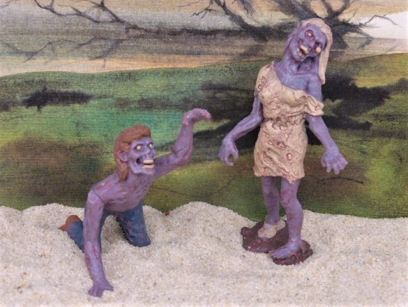 Zombies ... Paar - gräuliche Hautfarbe
