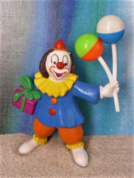 Clown ... mit Luftballons & Geschenk
