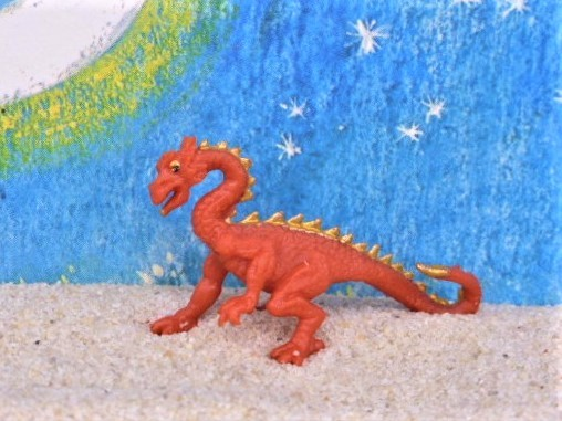 Rot-goldener Drache - Serie 'Good Luck Minis'