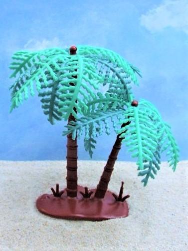 Kleine Palme & Große Palme ... dunkelbraune Stämme