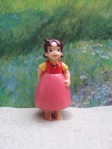 Mädchen 'Heidi' - Rotes Kleidchen