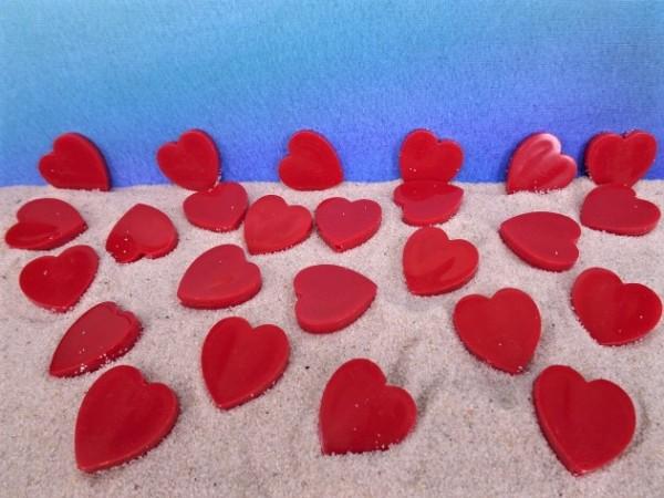 Herzen - rot - 25 Stück