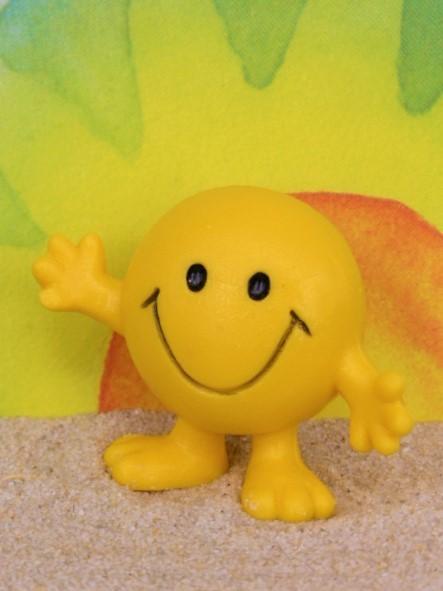 """'Smiley' - Kultfigur mit Schriftzug: 'Don't worry be happy!"""""""