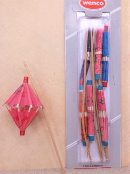 Papier-Lampions / Laterne 'ROSA' - 6er Set