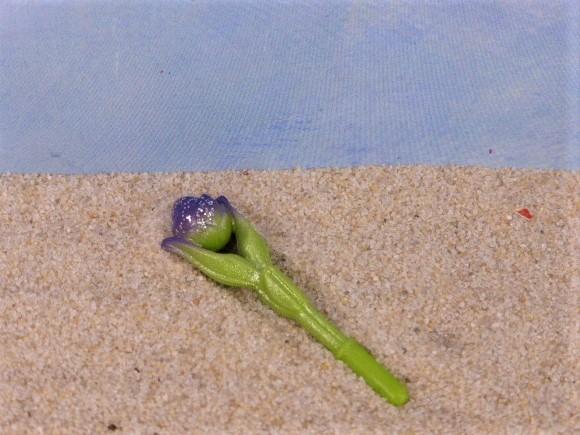 Blütenstab / Magische violette Blume - mit Silberglimmer