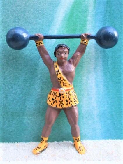 Dunkelhäutiger Gewichtheber