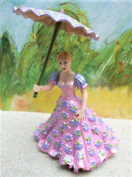 Dame mit Schirm - rosée