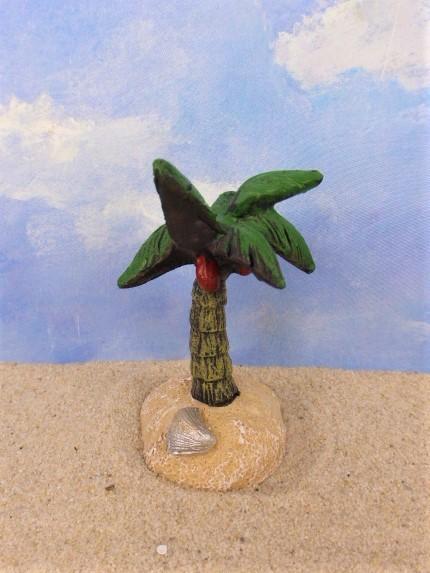 Kleine Kokospalme ... am Sandstrand