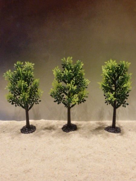 Laubbäume mit Wurzeln - 3er Set