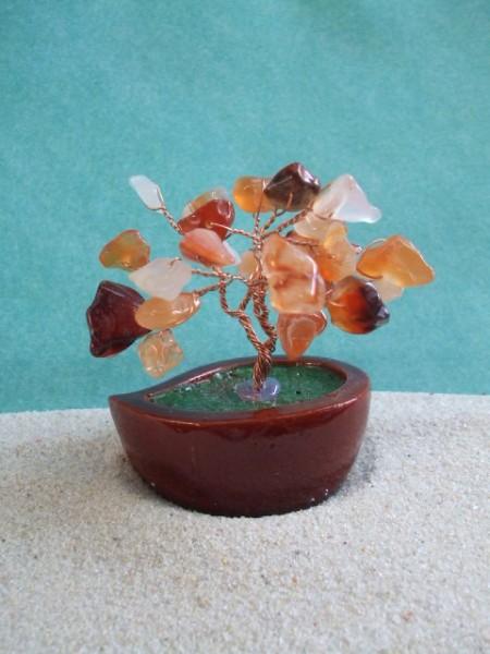 Kleiner Stein-Bonsai - Karneol