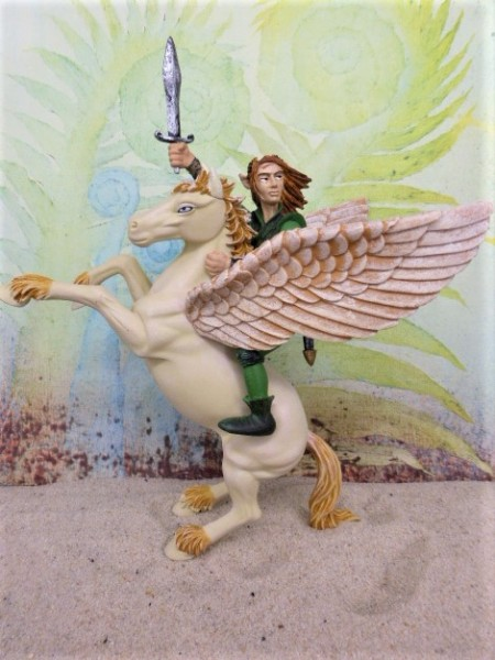 'Pegasus' ... mit Elfenkrieger