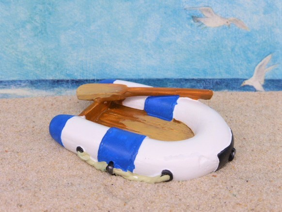 Schlauchboot - blau / weiß