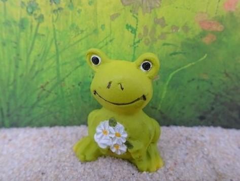 Frosch mit Blümchen - Minifigur