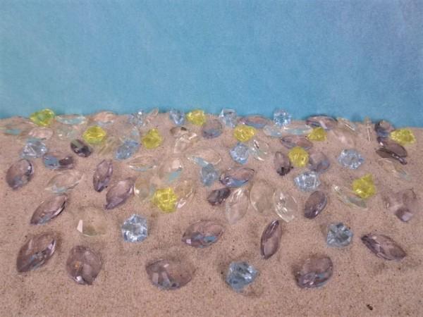 Facettierte Acrylglas-Steine & Nuggets - AQUA