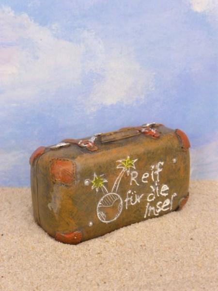 Designerkoffer / Reisekoffer 'Reif für die Insel'
