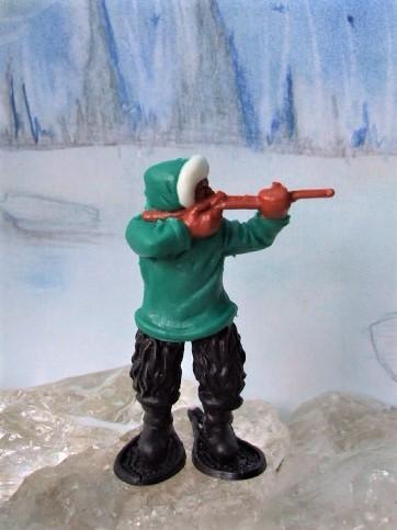 Schießender Inuit - grün/schwarz