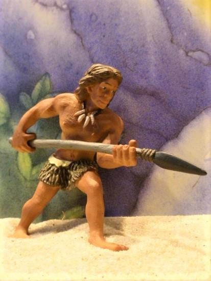 Jagender Neandertaler ... mit Speer