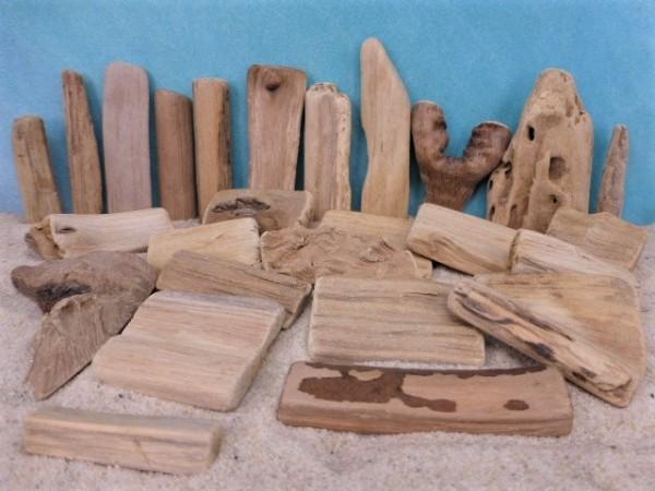 Treibholz ... zum Bau von Wegen / Zäunen