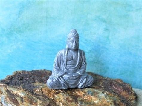 Buddha - silber schimmernd - Serie 'Good Luck Minis'