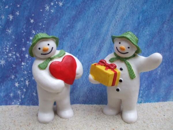 'Snowman' - 2er Set - Herz & Geschenk