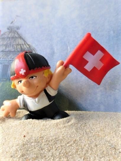 'Seppli' - Schweizer mit Fahne