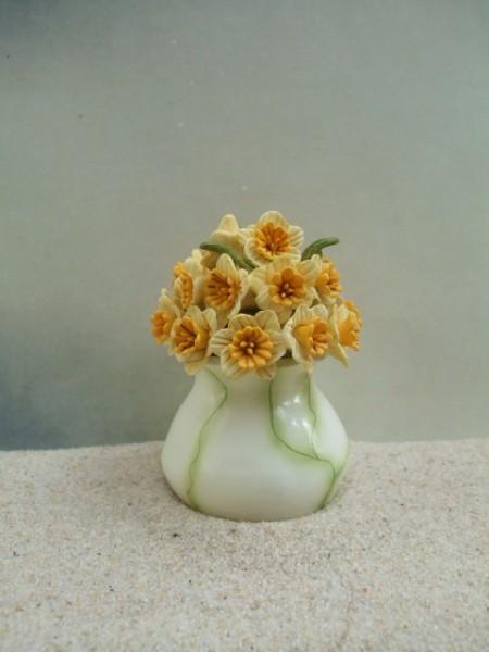 Blumenvase 'Gelbe Narzissen'