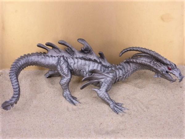 'Chrome Dragon' - Drache ohne Flügel - XL
