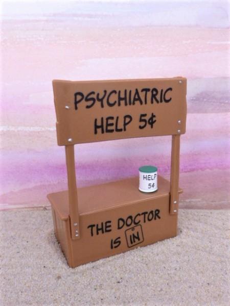 Stand für 'Psychiatrische Hilfe' von 'The Peanuts'