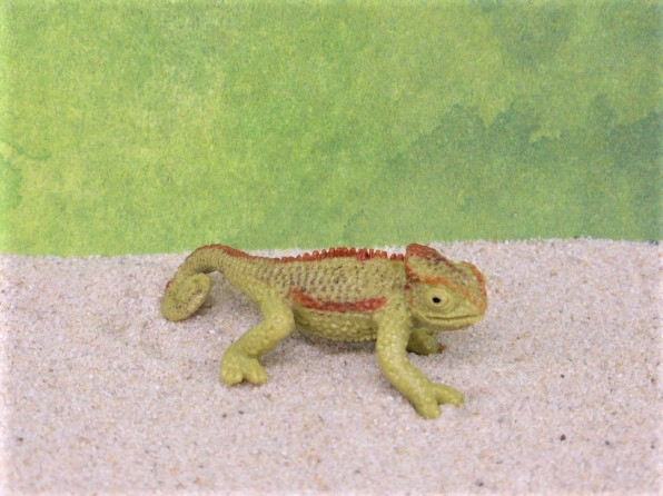 Grünes Chamäleon - klein