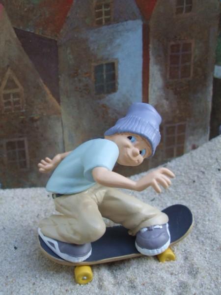 Straßenjunge / Skateboard Akrobat - Lila Mütze