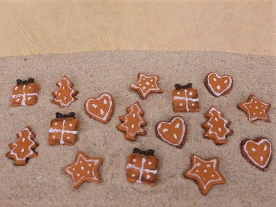 Lebkuchen / Weihnachtsplätzchen MINI - mit Zuckerguss verziert