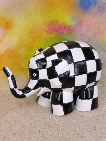 Elefant 'Walter' - schwarz/weiß kariert