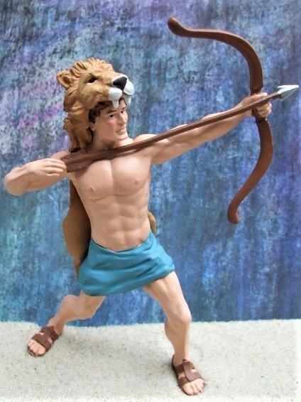'Herkules' mit Löwenfell - Held der griechischen Sagenwelt