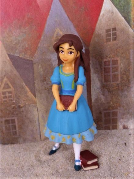 'Isabel' Wissbegieriges Mädchen ... mit Bücherstapel
