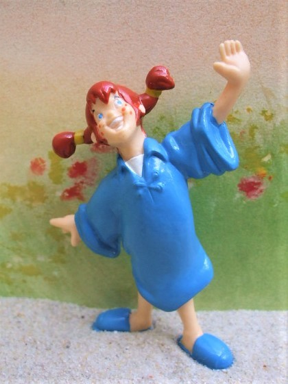 'Pippi Langstrumpf' ... im blauen Nachthemd