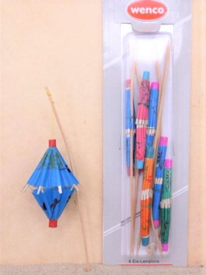 Papier-Lampions / Laterne 'BLAU' - 6er Set