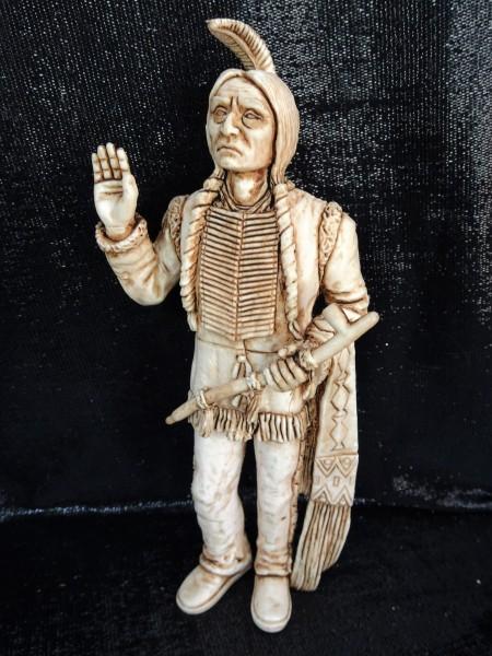 Indianerhäuptling 'Sitting Bull' ... mit Friedenspfeife