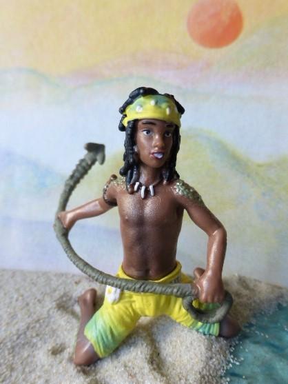 Afrikanischer Junge 'Kenjok' ... mit Fanghaken